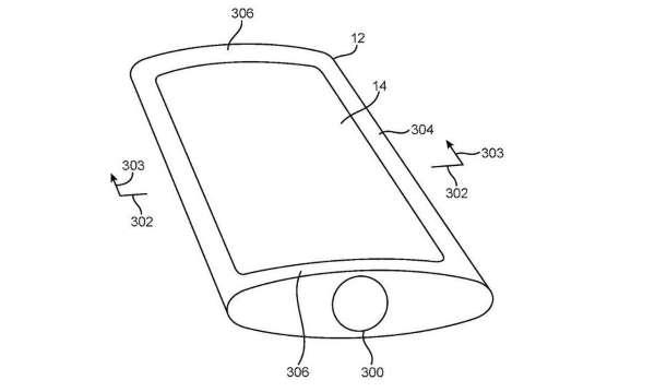 Patente del iPhone curvo