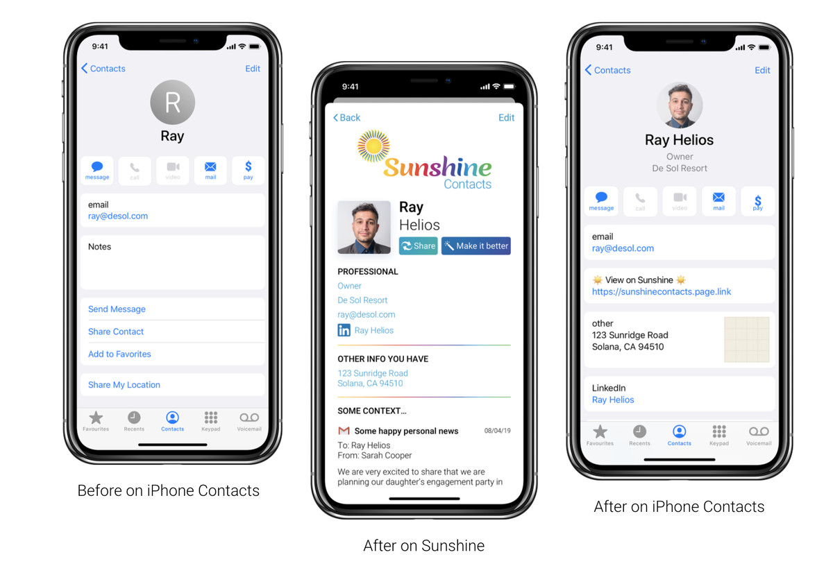 Así que Sunshine Contacts es el primero de una serie de lanzamientos que pretenden revolucionar la forma cómo los usuarios planifican y organizan diferentes aspectos de su vida digita