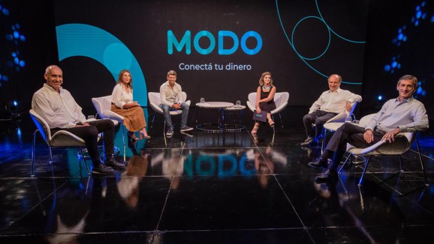 El titular de Banco Nación, Eduardo Hecker, estuvo presente en el lanzamiento de MODO