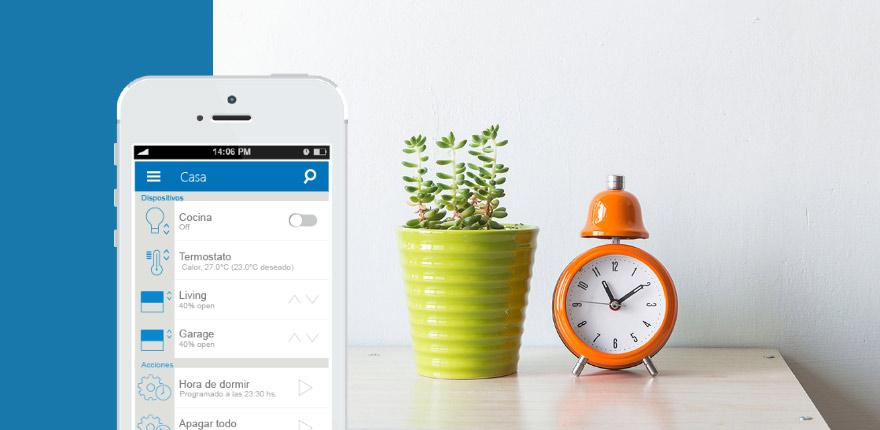 La app de Solidmation para controlar el hogar inteligente.