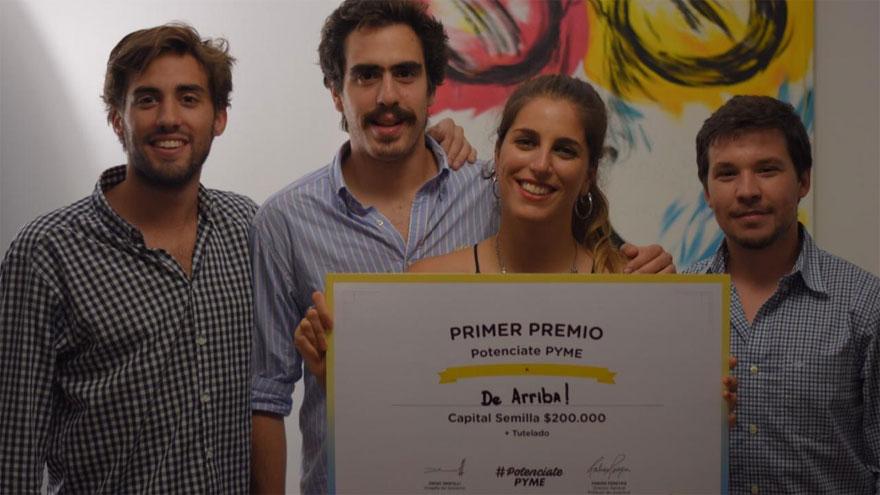 El equipo: José María Salvadores, Santiago Fontán, Constanza Rodríguez y Santiago Abella