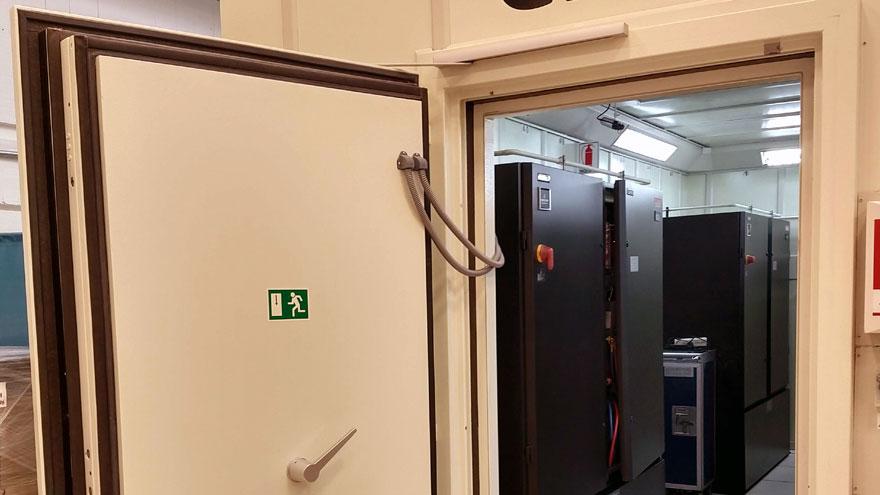 Entrada al centro de datos en Ezeiza.