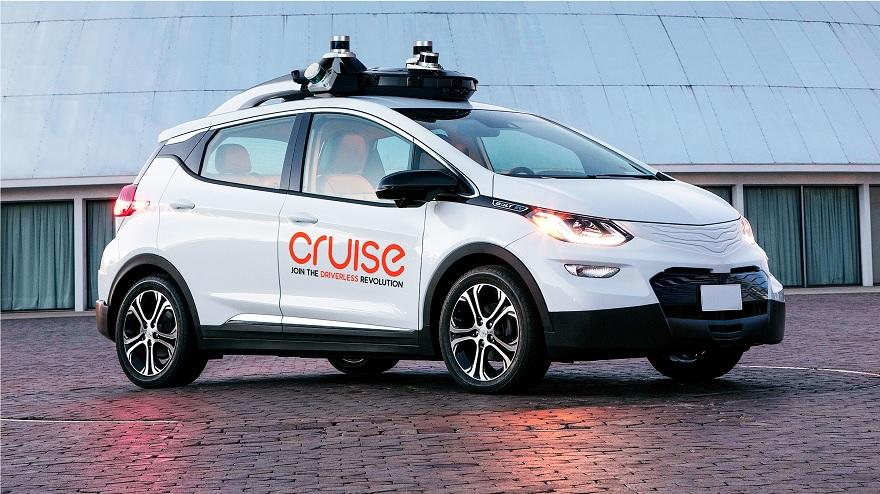 Modelo de coche de Cruise, la marca desarrolladora de automóviles autonómos, perteneciente a GM