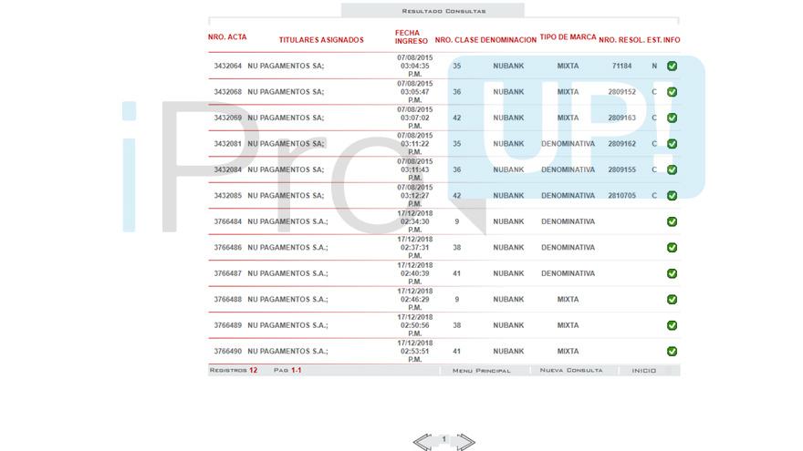 Registro de marca Nubank