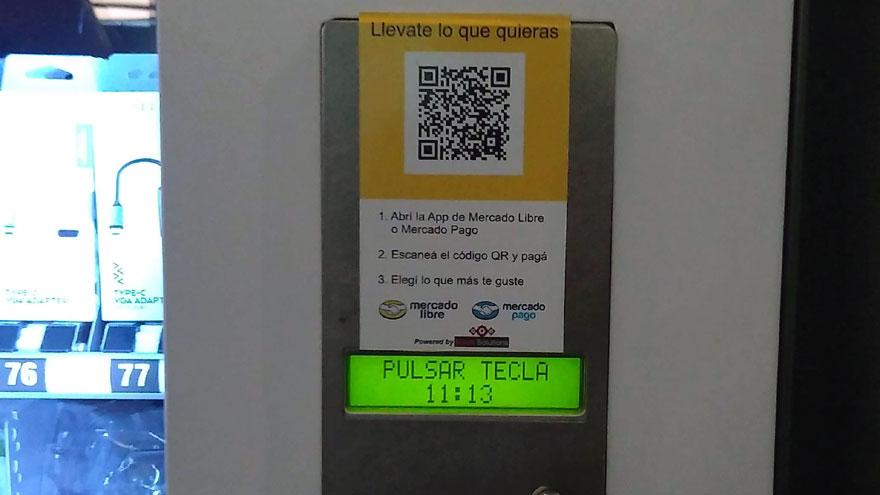 Las compras en las máquinas expendedoras se realizan con códigos QR.