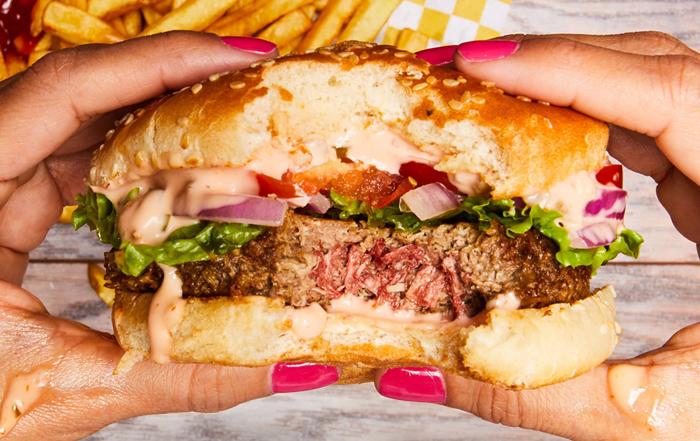 La hamburguesa de carne