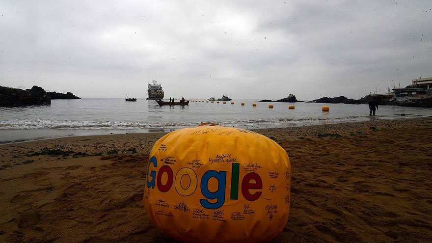Google instaló un cable que une a Valparaíso (Chile) con California (EE.UU.)