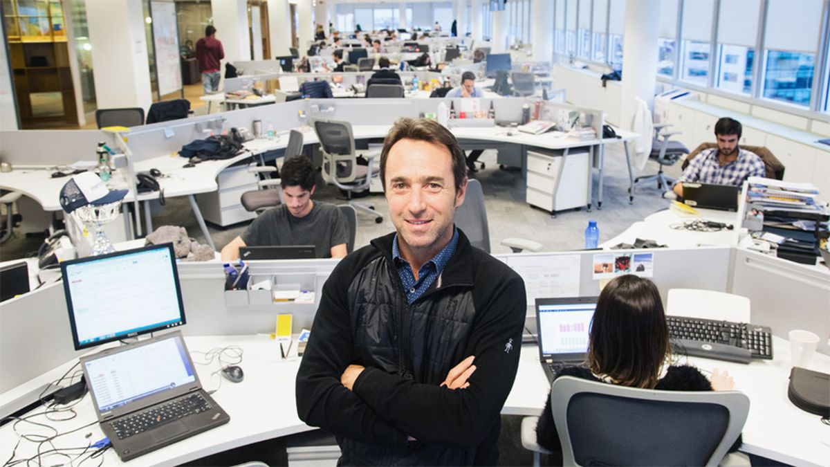 Marcos Galperin en las oficinas de Mercado Libre