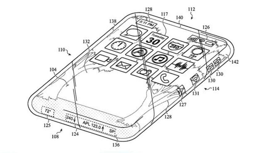 iPhone: Apple patenta teléfono con pantalla en toda la carcasa