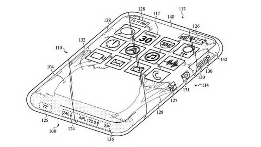 El diagrama incluido en la patente del iPhone de crital