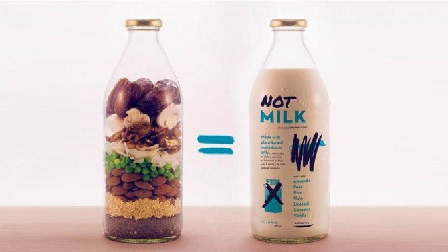 Otro de los productos que hace futor entre veganos y los que buscan alternativas alimenticias, es la Not Milk