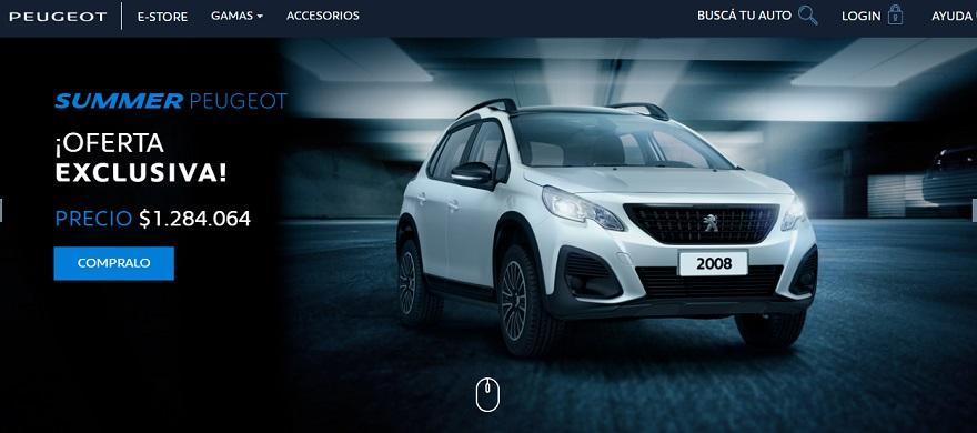 Peugeot mantiene su e-store para ventas online.