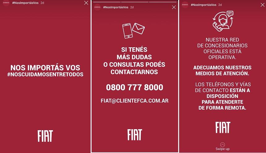 Fiat, en campaña contra el coronavirus.
