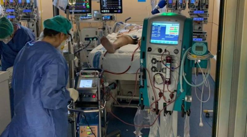 Respirador de paciente con coronavirus