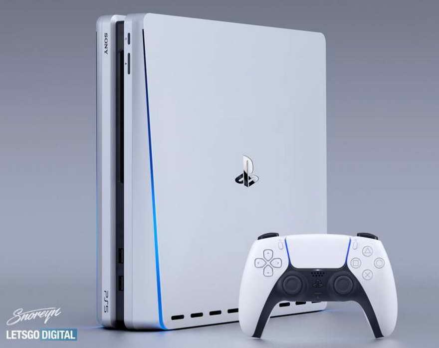La nueva PlayStation 5 cuenta con una estética futurista con bordes curvos con colores blanco