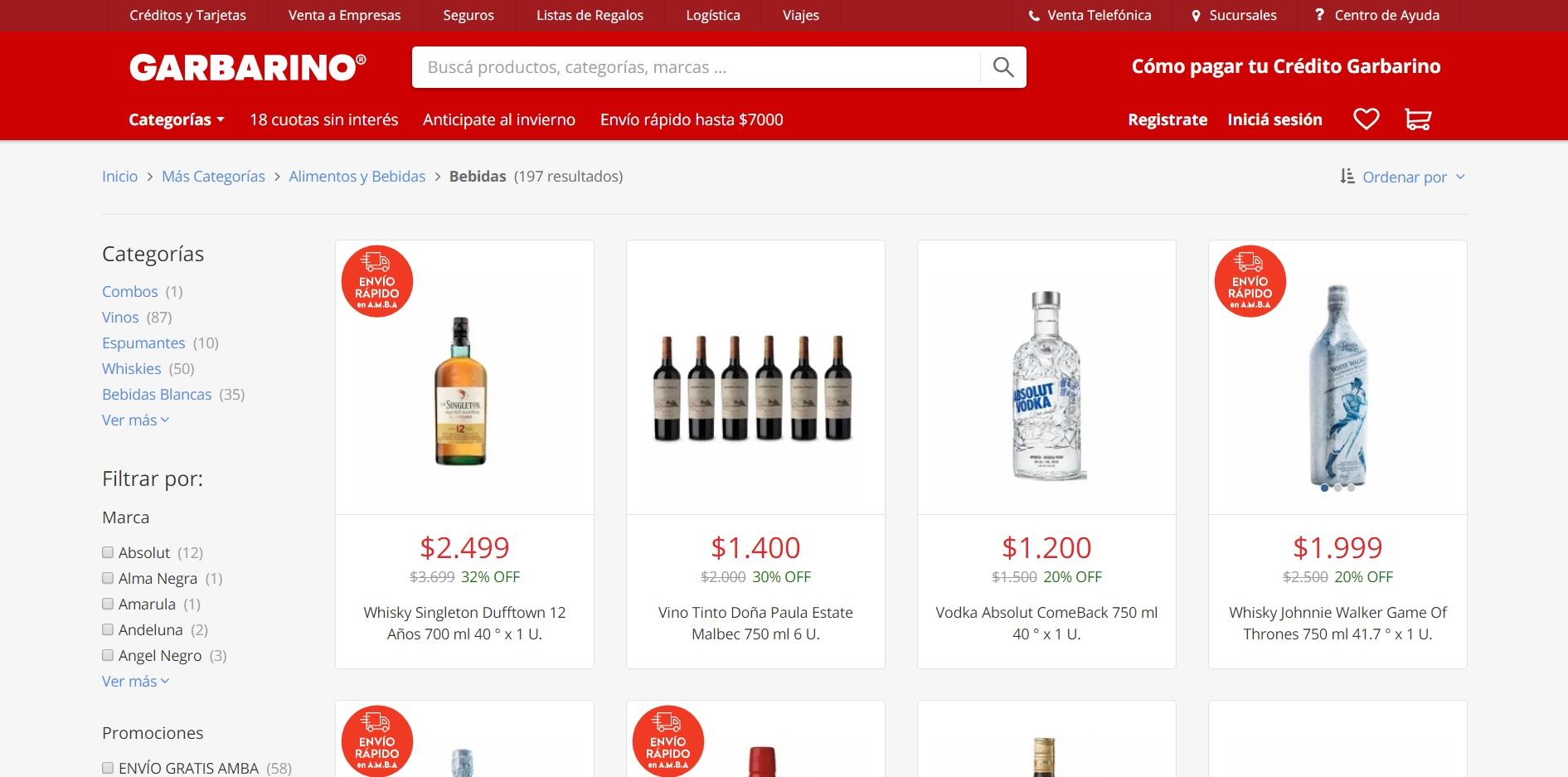 Garbarino le hace frente a la crisis comercializando productos de terceros en su sitio web