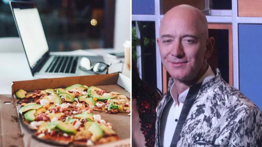 Otra costumbre curiosa de Bezos a la hora de dirigir Amazon es la llamada 'regla de las 2 pizzas'