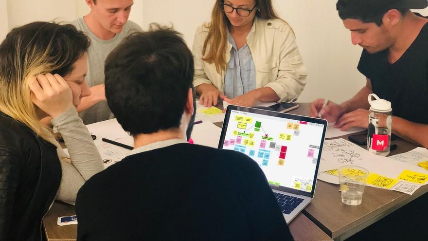 El Design Thinking usa colores y ubicaciones para crear flujos de trabajo y conocer avances