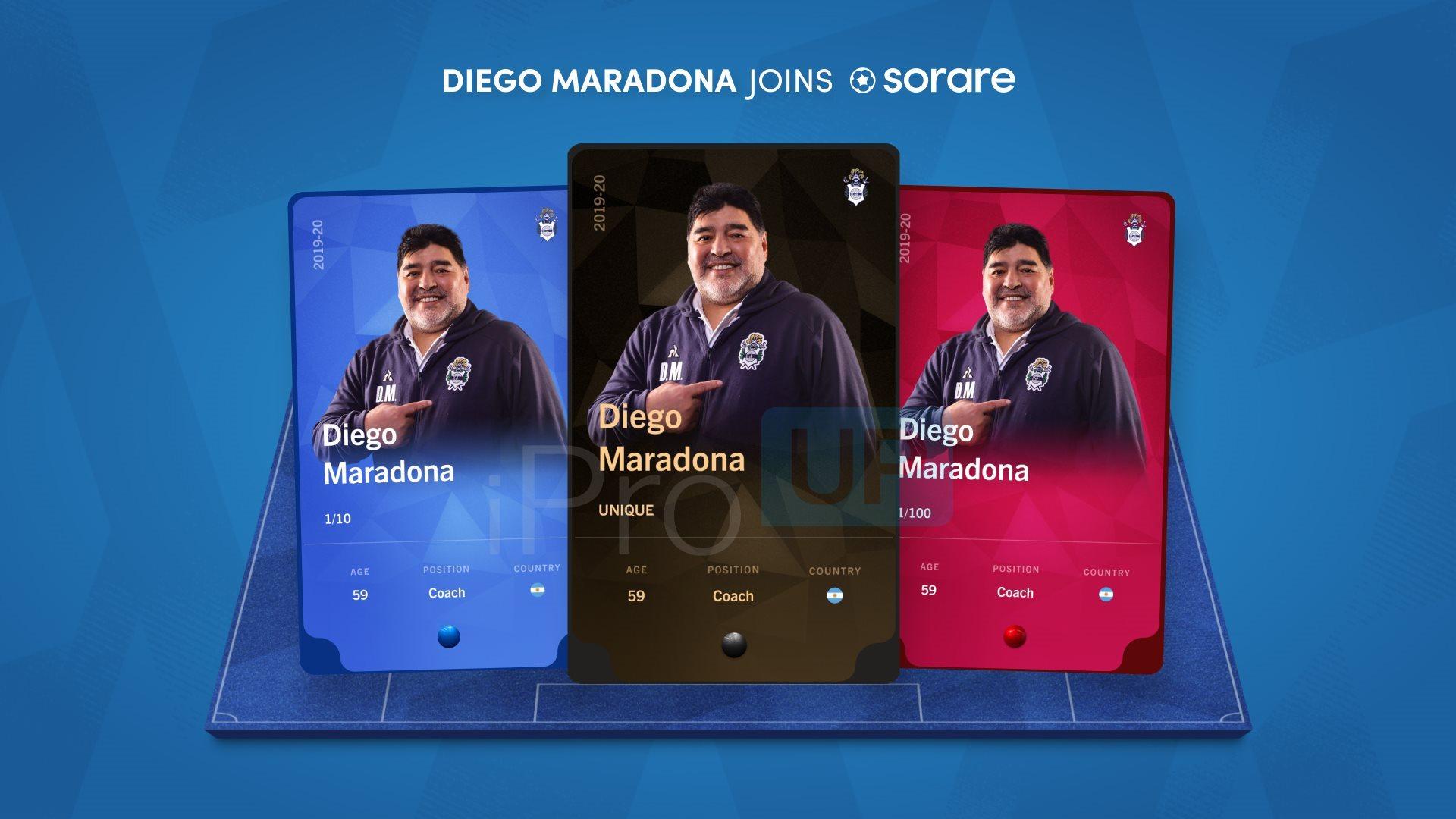 El NFT de Maradona