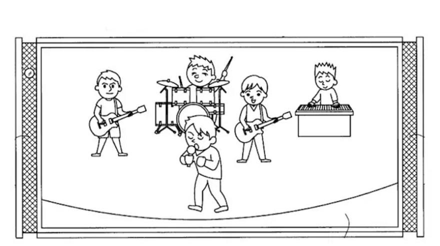 El concepto mostrado por Sony en su patente