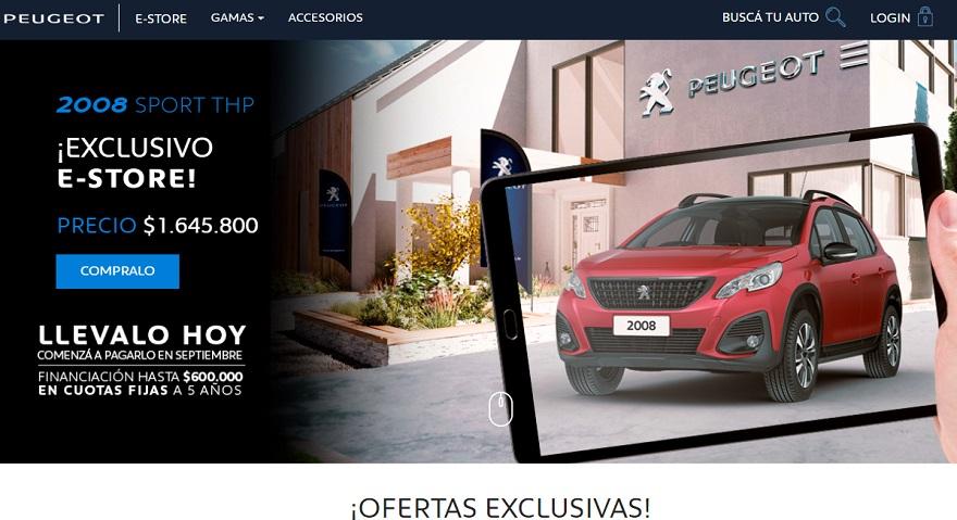 Sitio oficial de ventas de Peugeot Estore.