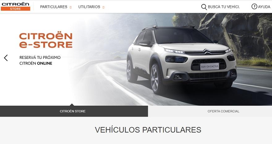 Citroën eStore, el sitio online de la marca.