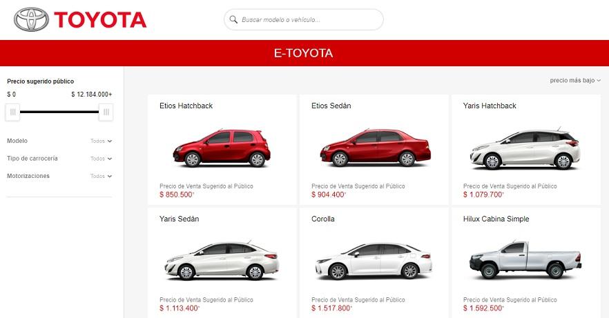 E-Toyota, el sitio para conocer todo lo que tiene la marca.