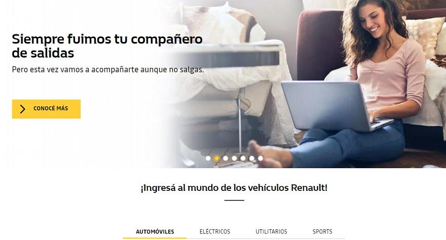 Renault creó la solución online para no salir de casa.
