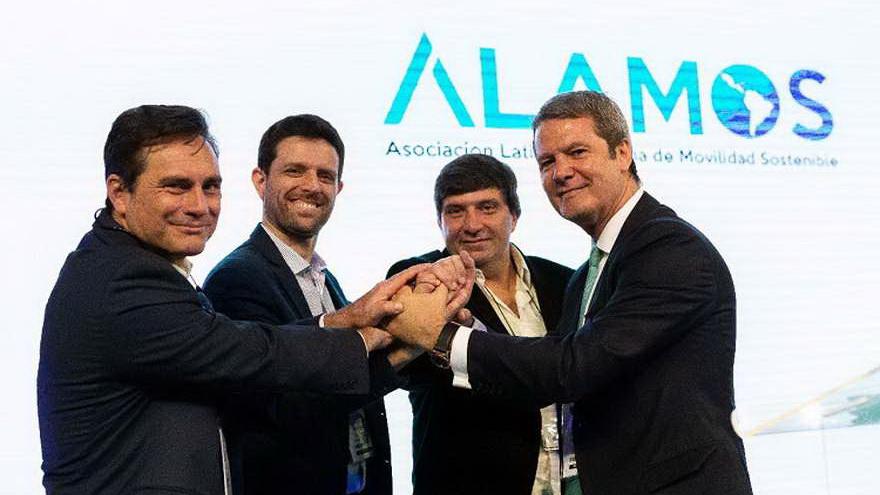 Directivos de la Asociación Latinoamericana de Movilidad Sostenible