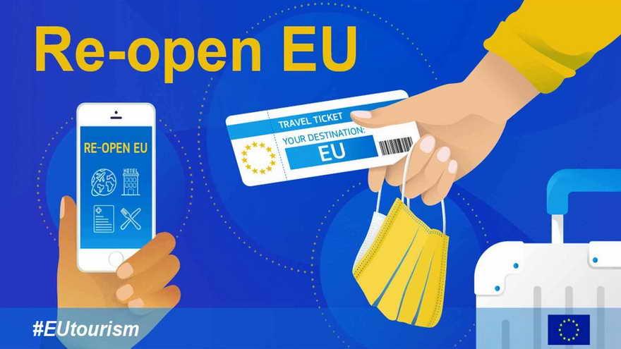 La web cn indicacione de la Unión Europea para los viajes