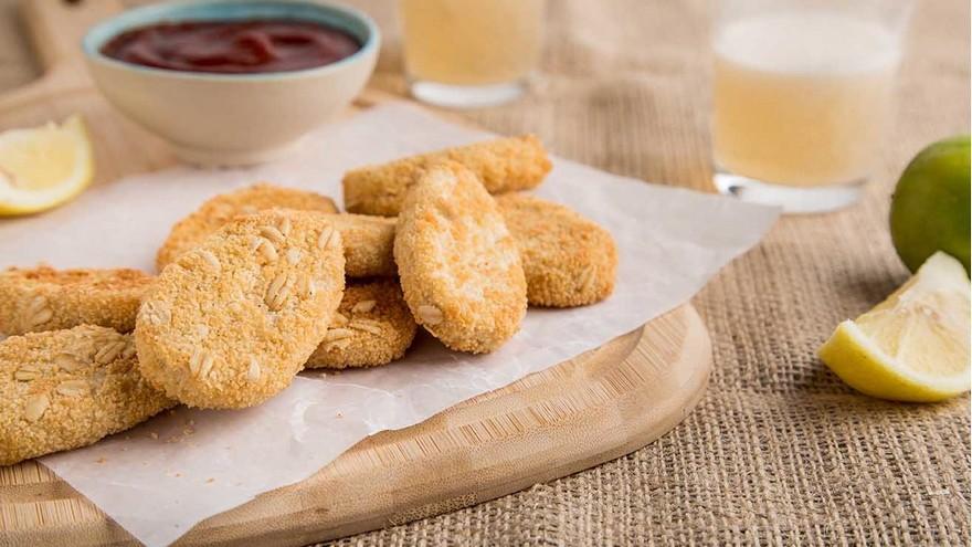 Los Frinuggets están elaborados a base de proteína de soja y reproduce el sabor de los bocaditos de pollo