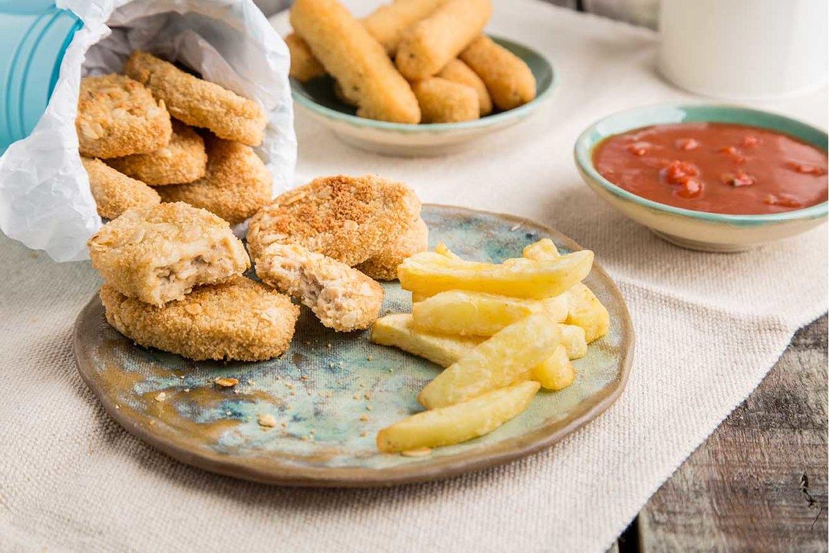 Los Frinuggets tienen sabor, ahora y textura de bocaditos de pollo, pero usan proteína vegetal