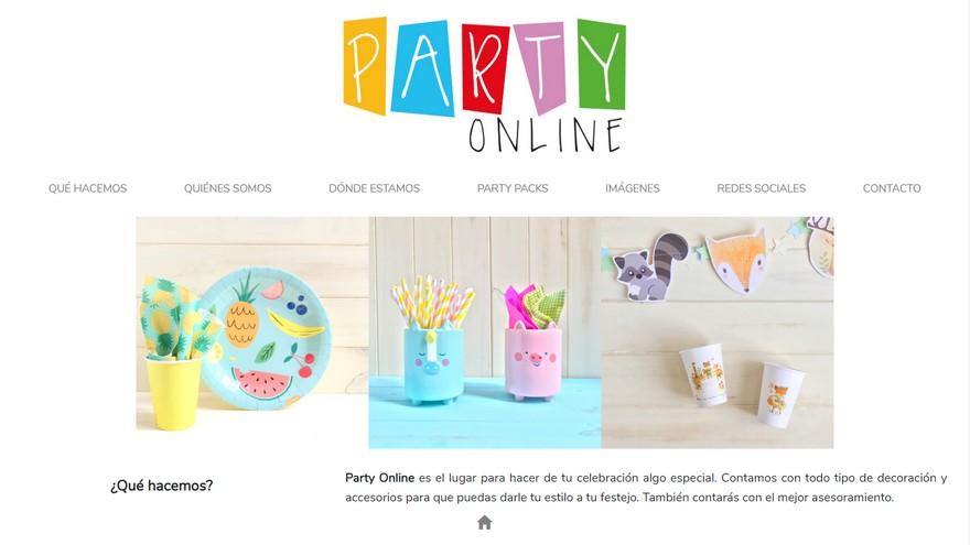 PartyOnline vende packs para fiestas a través de la web