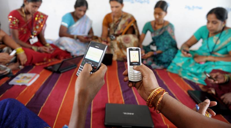 Los teléfonos son usados masivamente en la India