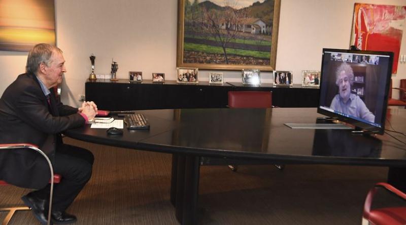 El gobernador Schiaretti en reunión virtual con directivos de Globant
