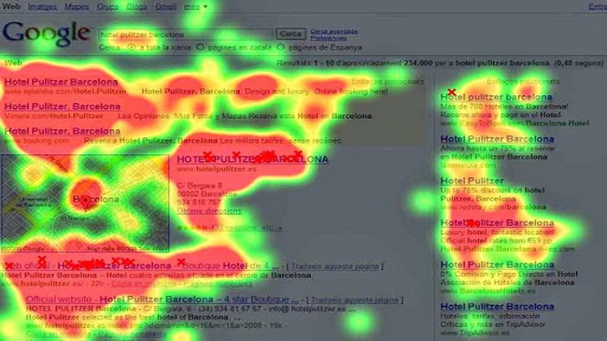Un ejemplo clásico de la tecnología es detectar que parte de un texto se mira más