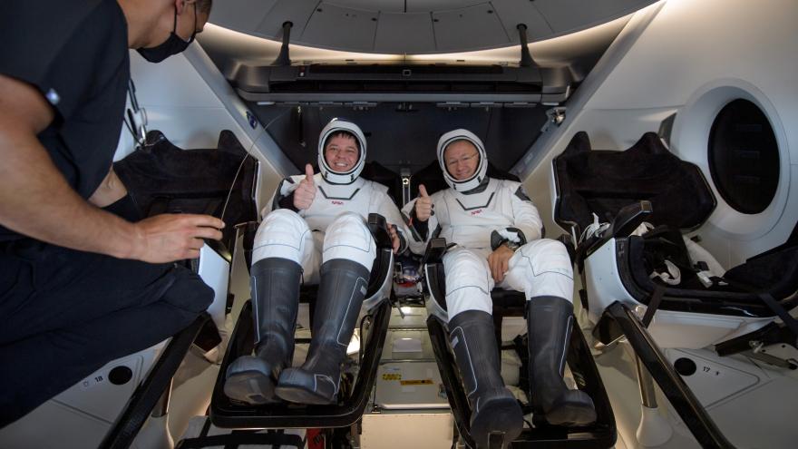 Así llegaron los astronautas