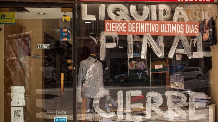 Negocio en liquidación por cierre