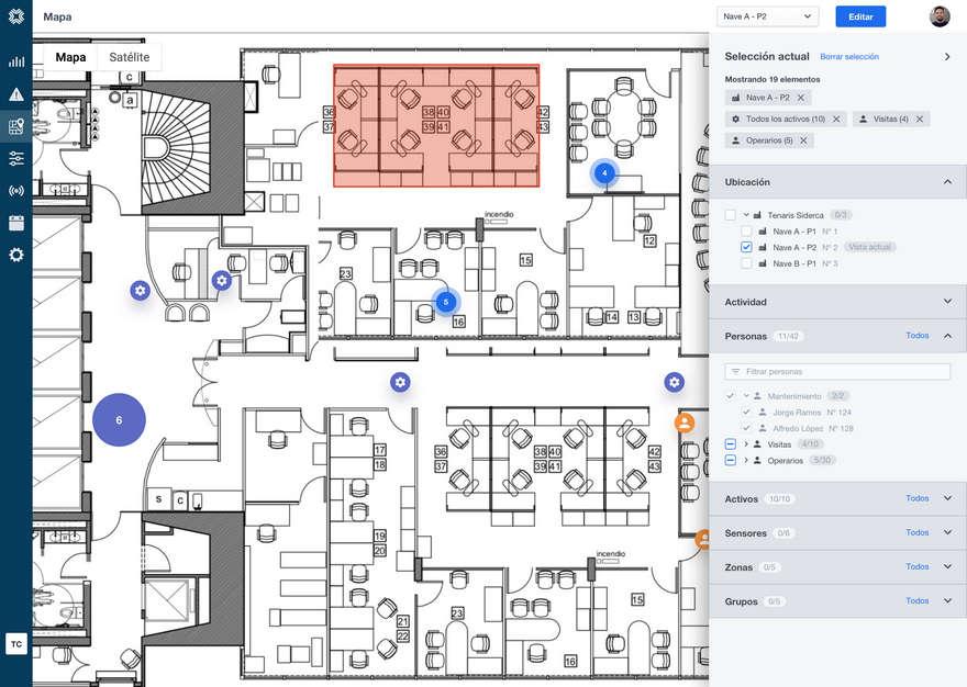 Un mapa de cómo la plataforma toma datos de un espacio laboral