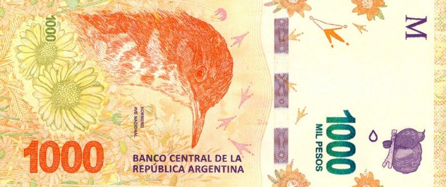 El billete de mayor denominación de la Argetinna es el más bajo en dólares en la región