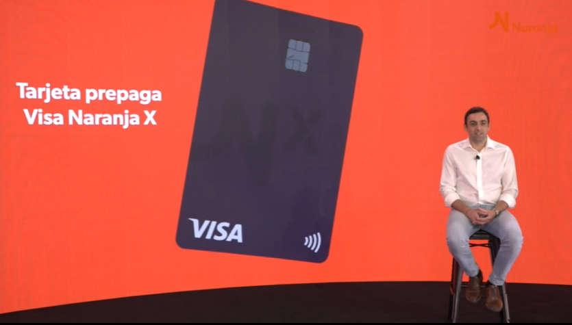 la compañía Naranja presentó su tarjeta prepaga VISA Naranja X
