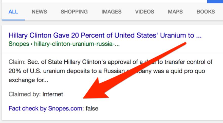 Marca de chequeado de Google