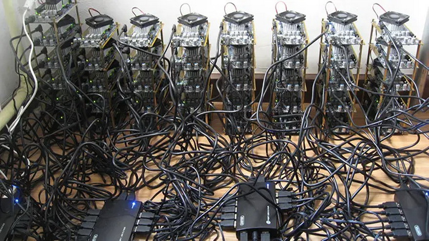 Granja de minado cripto