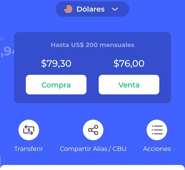 En la app de Reba ya se habilitó la compraventa de dólares.