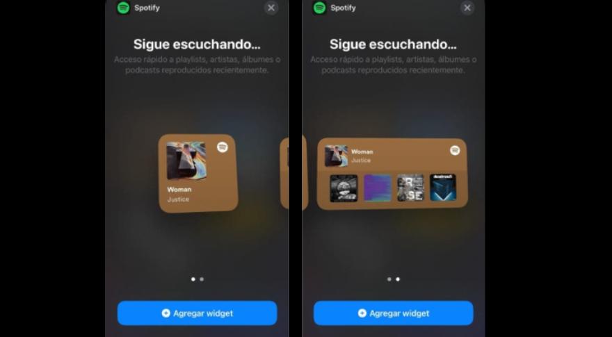 Los nuevos widgets de Spotify ya disponibles