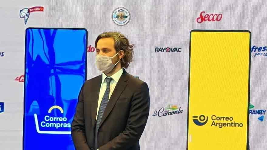 El jefe de Gabinete, Santiago Cafiero, durante la presentación de Correo Compras