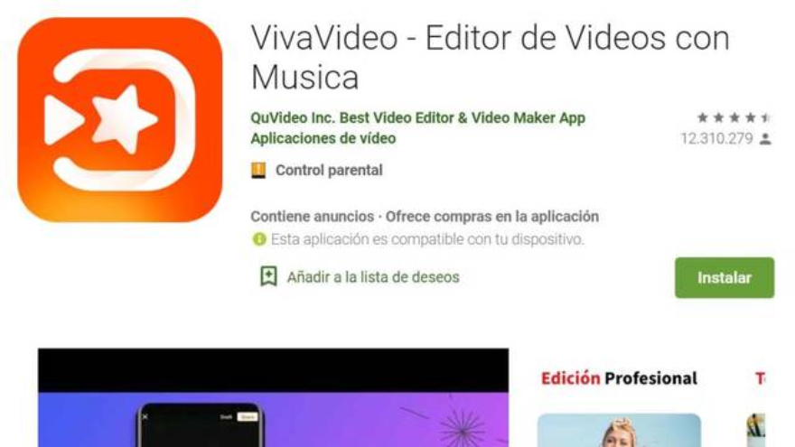 La app destaca en Google Play