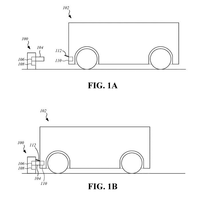 Según la patente y los dibujos incluidos en la misma, esta estación de carga 'pasiva' se puede instalar en cualquier garaje