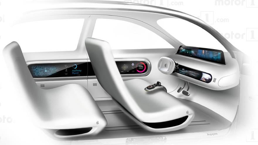 El interior del iCar se vería así