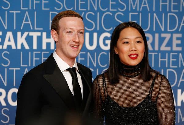 Priscilla Chan, junto a su marido, Mark Zuckerberg, fundador de Facebook. Foto: The New York Times